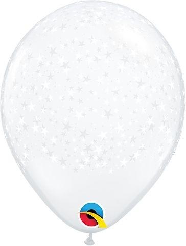 "Qualatex Latexballon Stars Diamond Clear 13cm/5"" 100 Stück"