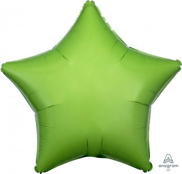 "Anagram Folienballon Stern Kiwi Green 50cm/20"""