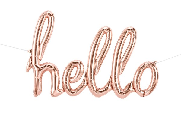 "Northstar Folienballon Hello Script Rose Gold 47"""