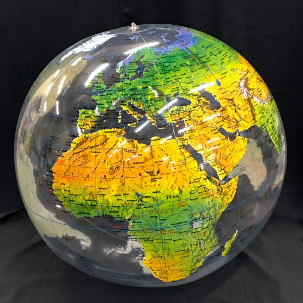 Jet Creation Clear Tropographic Globe