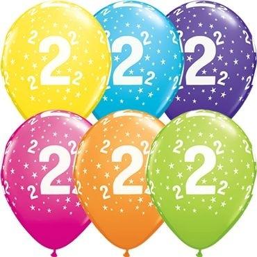"Qualatex Latexballon Stars 2-A-Round Tropical Assortment 28cm/11"" 25 Stück"