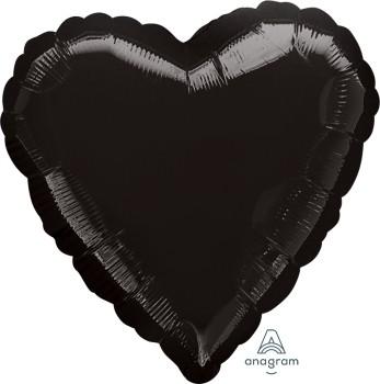 Anagram Folienballon Herz 45cm Durchmesser Schwarz (Black)