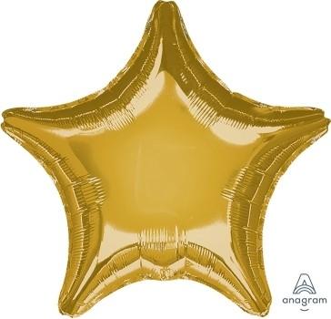 "Anagram Folienballon Stern Metallic Gold 20"""