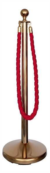 Kordelständer-Set gold/rot (1 Ständer & 1 Kordel)