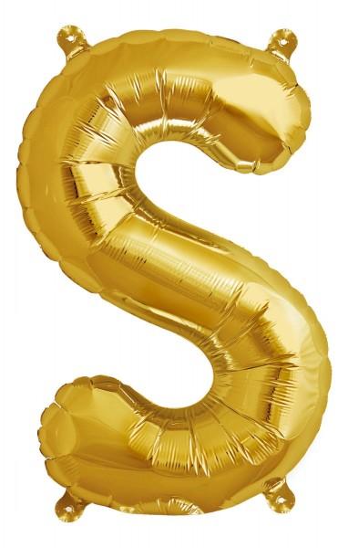 "Northstar Folienballon Buchstabe S Gold 40cm/16"""