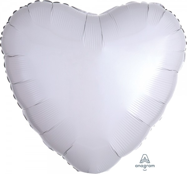 Anagram Folienballon Herz Metallic White 70cm/28""