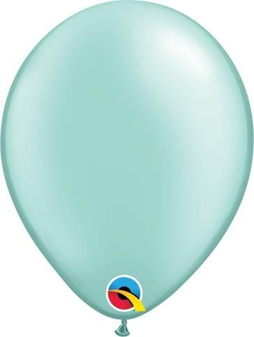 """Qualatex Latexballon Pastel Pearl Mint Green 13cm/5"""" 100 Stück"""