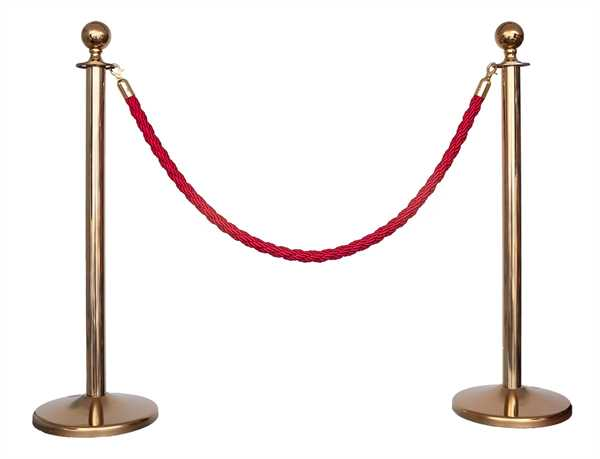Kordelständer-Set Gold/Rot (2 Ständer & 1 Kordel)