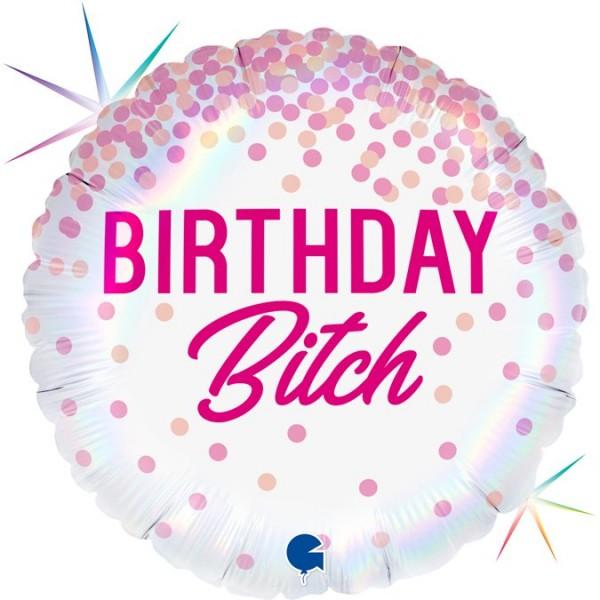 "Grabo Folienballon 46cm/18"" Birthday Bitch"