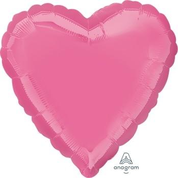 Anagram Folienballon Herz 45cm Durchmesser Rosa (Rose)