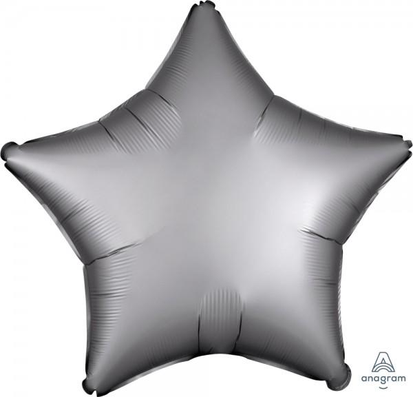 "Anagram Folienballon Stern Satin Luxe Platinum 50cm/20"""