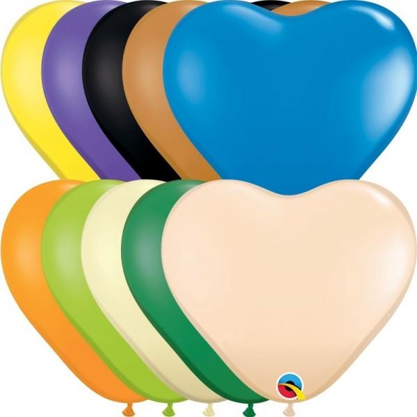 """Qualatex Latexballon Opaque Heart Assortment 15cm/6"""" 100 Stück"""