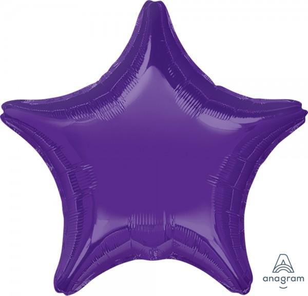 "Anagram Folienballon Stern Quartz Purple 50cm/20"""