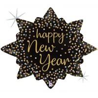 "Betallic Folienballon New Year Confetti Burst 81cm/32"""