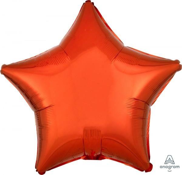 "Anagram Folienballon Stern Metallic Orange 50cm/20"""