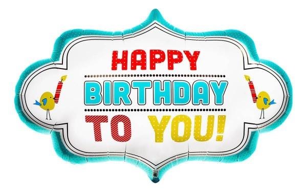 "Northstar Folienballon Birthday Dotty Frame 28"""