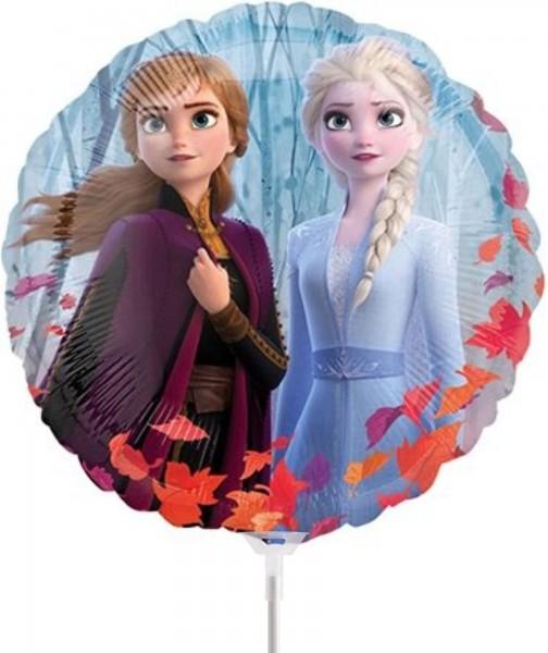 """Qualatex Folienballon Frozen2 Mini 36cm/14"""" luftgefüllt inkl. Stab"""