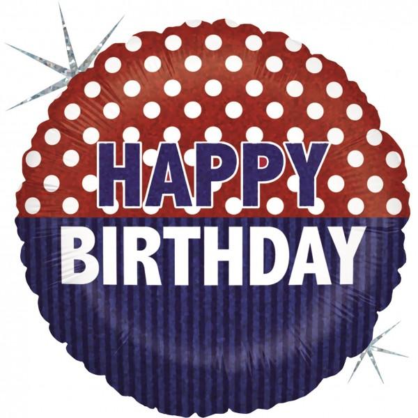 "Betallic Folienballon Nautical Birthday Holographic 23cm/9"""