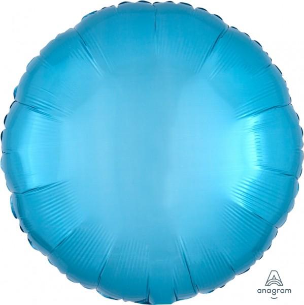 "Anagram Folienballon Rund Caribbean Blue 45cm/18"""