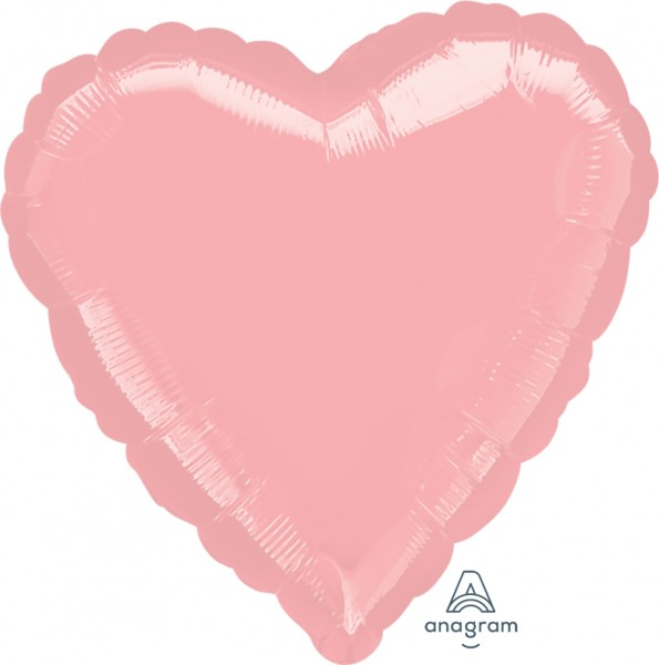 "Anagram Folienballon Jumbo Herz Metallic Pearl Pastel Pink 80cm/32"""