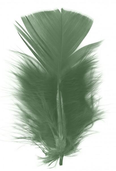 Goodtimes Schmuckfedern ca. 6/8cm grün 100 Gramm