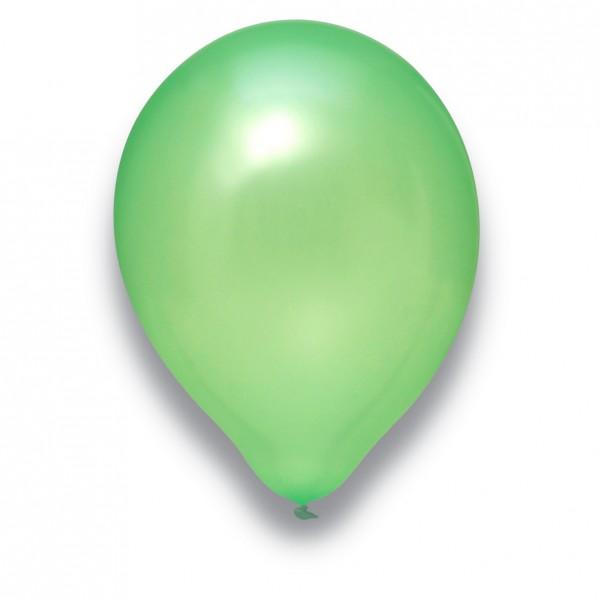 Globos Luftballons 100er Packung 30cm Durchmesser Pearl Hellgrün Naturlatex