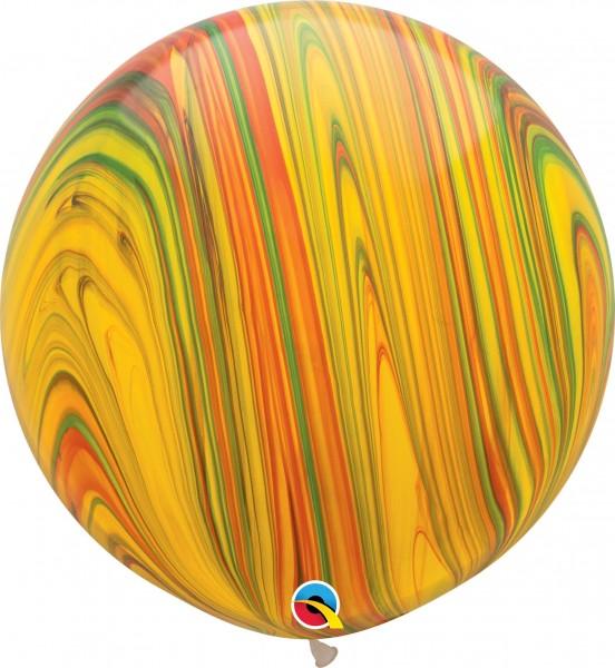 "Qualatex Latexballon Traditional SuperAgate 75cm/30"" 2 Stück"