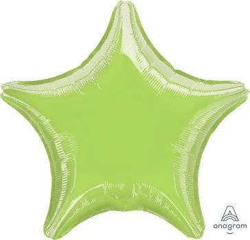 Anagram Folienballon Stern Metallic Lime Green 50cm/20""