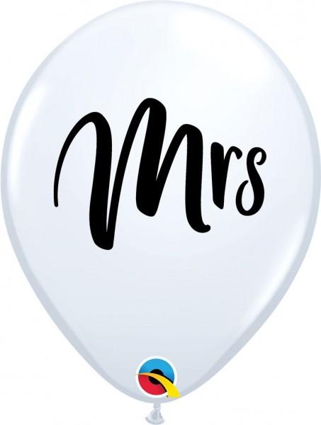 "Qualatex Latexballon Mrs. White 28cm/11"" 25 Stück"
