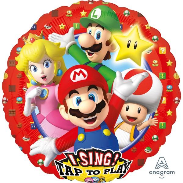 "Anagram Folienballon Sing-A-Tune ""Super Mario Brothers"" 70cm/27"""