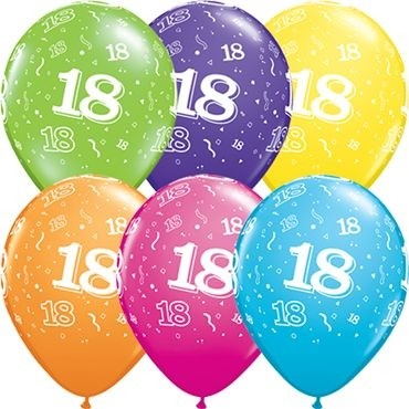"Qualatex Latexballon 18-A-Round Tropical Assortment 28cm/11"" 25 Stück"