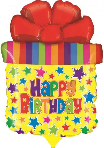 "Betallic Folienballon Mini Birthday Present SQ 35cm/14"""