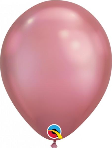 "Qualatex Latexballon Chrome Mauve 18cm/7"" 100 Stück"