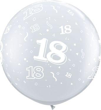 Qualatex Latexballon 18-A-Round Diamond Clear 90cm/3' 2 Stück