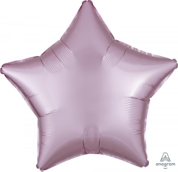 "Anagram Folienballon Stern Satin Luxe Pastel Rose 50cm/20"""