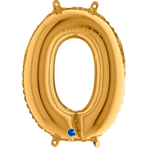 "Grabo Folienballon Zahl 0 Gold 36cm/14"""