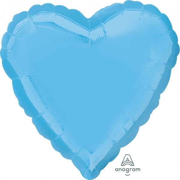 "Anagram Folienballon Herz Pale Blue 45cm/18"""