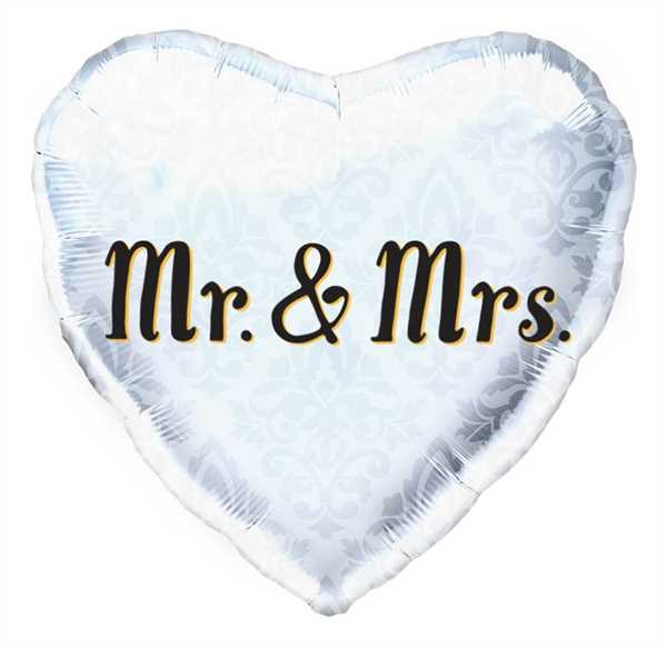 Northstar Folienballon Mr. & Mrs. Heart 18""