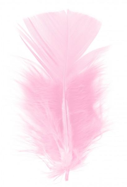Goodtimes Schmuckfedern ca. 6/8cm rosa 100 Gramm