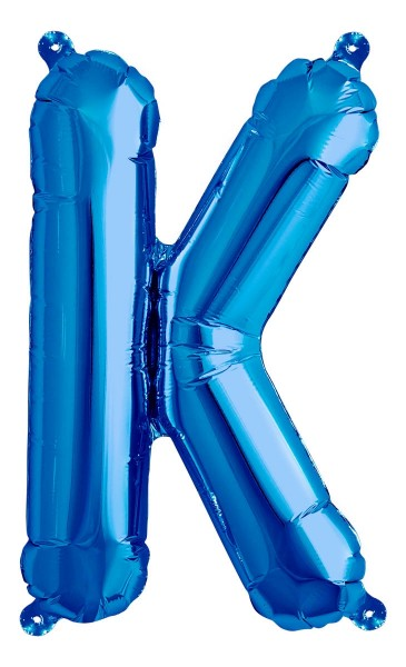 "Northstar Folienballon Buchstabe K Blue 40cm/16"""