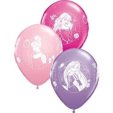 "Qualatex Latexballon Disney Princess Cameos Sortiment 28cm/11"" 6 Stück"