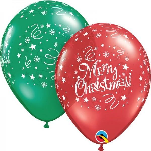 """Qualatex Latexballon Christmas! Festive 28cm/11"""" 25 Stück"""