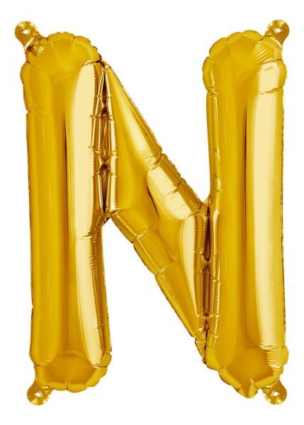 "Northstar Folienballon Buchstabe N Gold 40cm/16"""