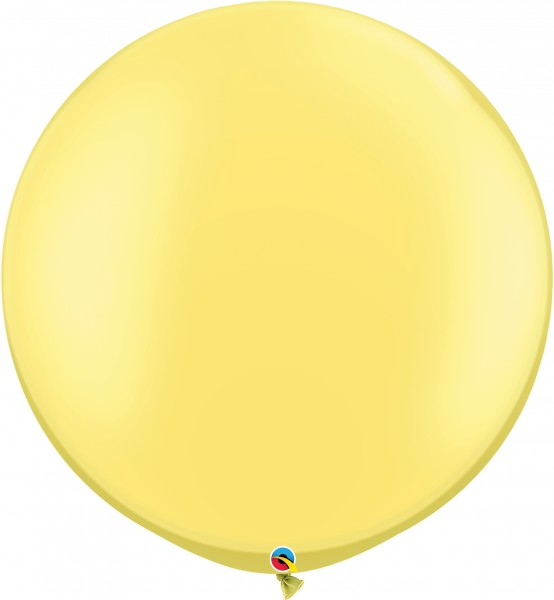 "Qualatex Latexballon Pastel Pearl Lemon Chiffon 75cm/30"" 2 Stück"