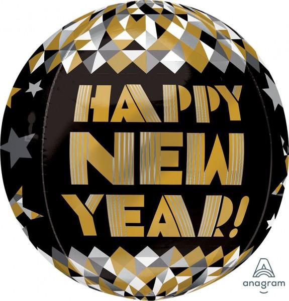 Anagram Orbz Ballon Happy New Year! Gold