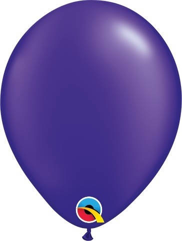 "Qualatex Latexballon Radiant Pearl Quartz Purple 13cm/5"" 100 Stück"
