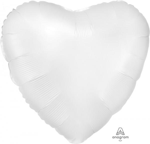 """Anagram Folienballon Herz Satin Luxe White 45cm/18"""""""
