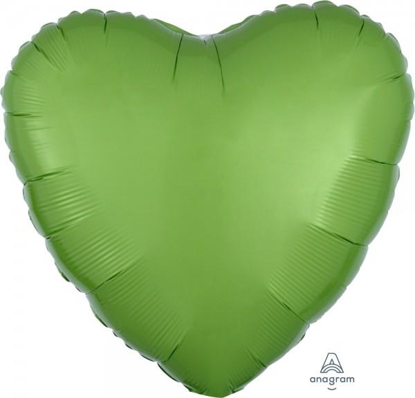 "Anagram Folienballon Herz Metallic Kiwi Green 45cm/18"""