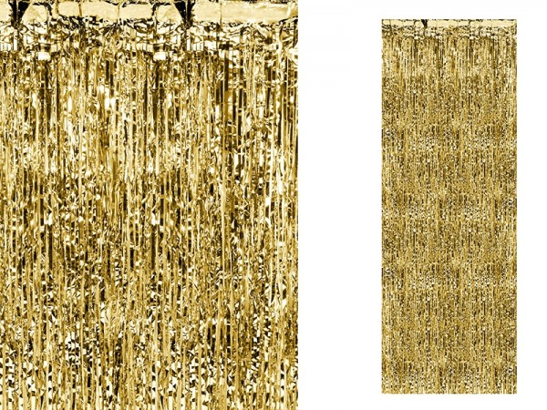 PartyDeco Partyvorhang gold, 90x250 cm