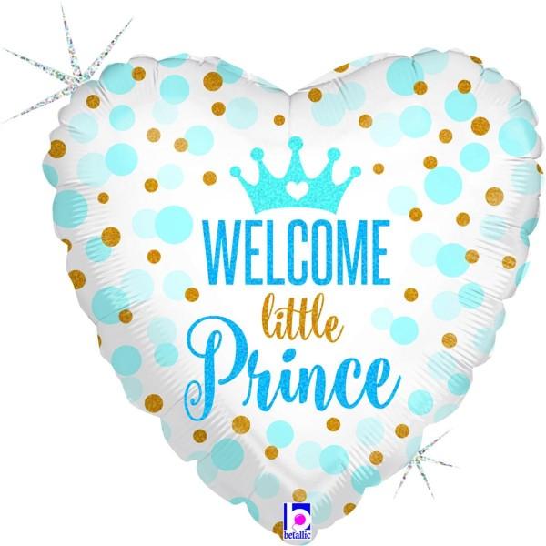 "Betallic Folienballon Welcome little Prince Holo 46cm/18"""